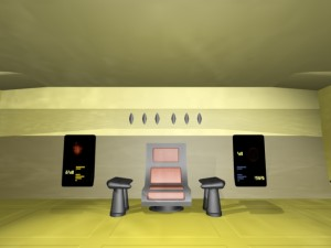 - Scifi starship bridges renderings -